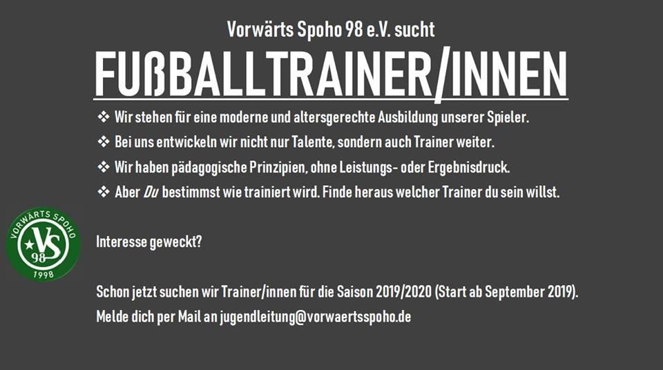 Fußballtrainer/innen gesucht!
